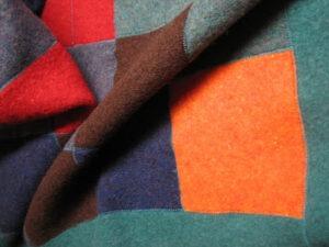reused wool blanket example