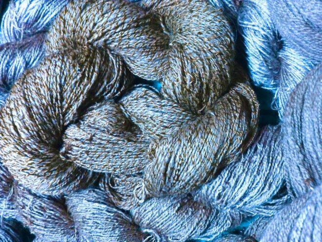 indigo dyed cotton rayon yarn