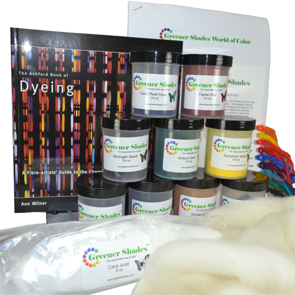 beginner dye kit from the Woolery at SlowYarn.com