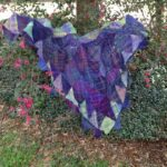 triangle woven shawl from handspun yarn