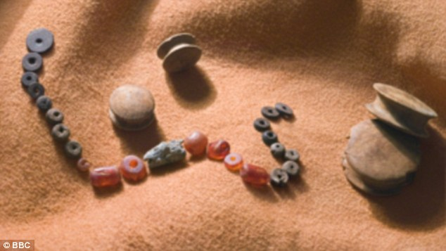 Bronze Age beads from Dartmoor.