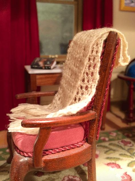miniature afghan handknit