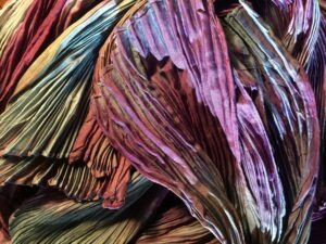 natural dyed shibori silk scarves