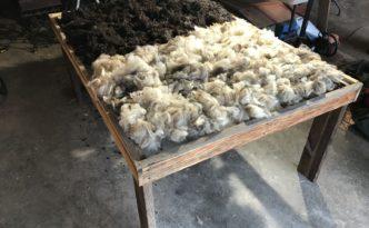 skirting table drying rack for wool fleece