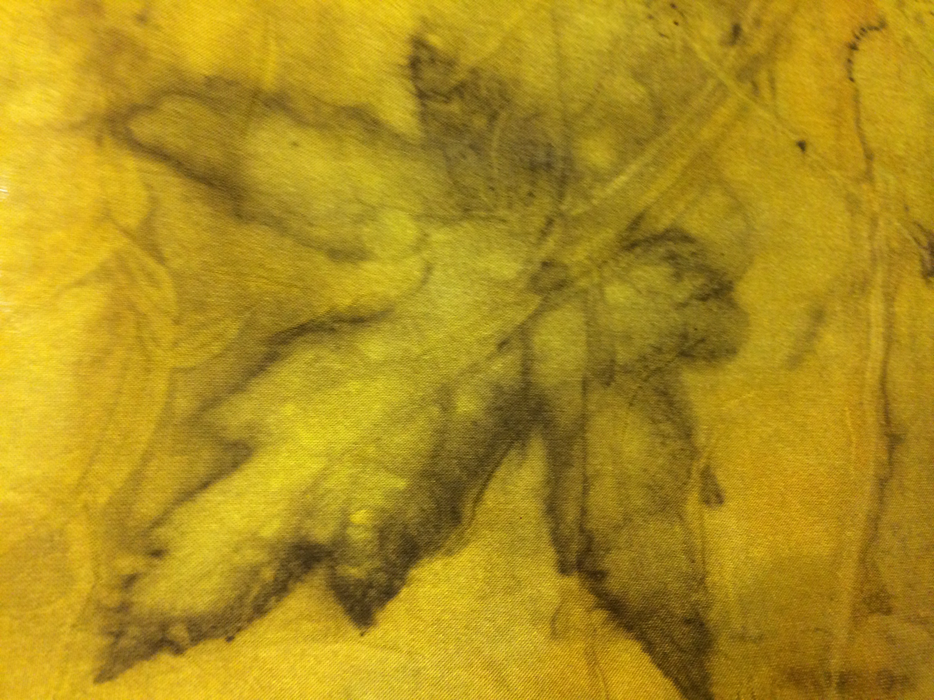 ecoprint maple leaf turmeric dye