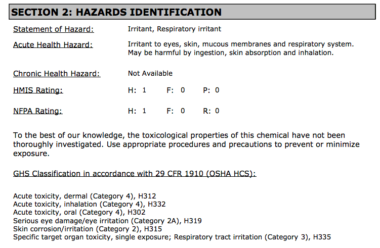 Reading an MSDS for Home Dyers: Part 1 - SlowYarn com
