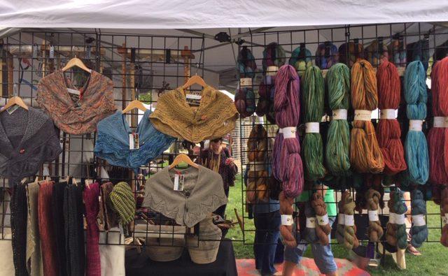 fiber festival yarn display