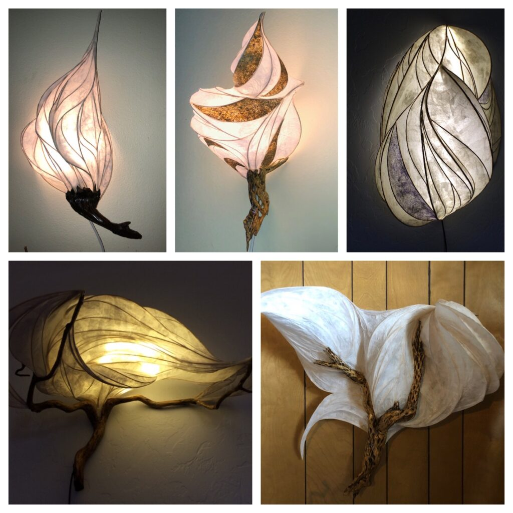 light sculptures from 2019 by Kelley Adams