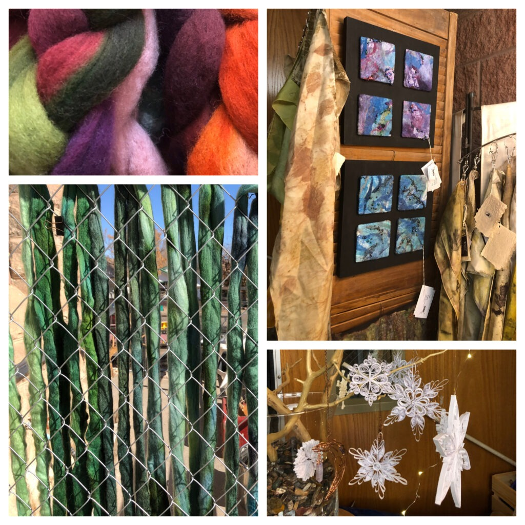 collage of fiber art from 2019
